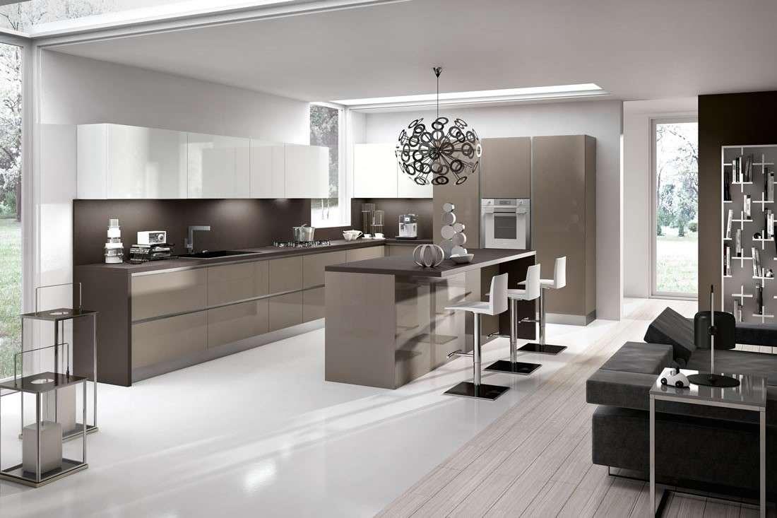 Pareti cucina color tortora good colori with pareti - Cucina bianca e nera colore pareti ...